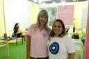 A coordenadora do Amigas Guerreiras, Leila Ribeiro e a coordenadora do Nugedis, Ivanise Capdevilla (Foto: Rakenny Braga).