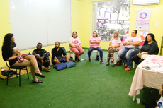 Uma roda de conversa sobre relações abusivas integrou a programação (Foto: Rakenny Braga).