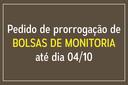 Prorrogação de projetos de monitoria