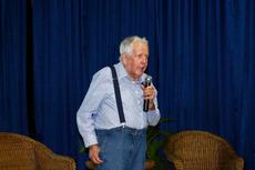 O professor Attico Chassot fez a palestra inaugural do evento. Foto: Raphaella Cordeiro