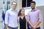 Fabricio Brasil, a estudante de engenharia Anna Carolline  e Renan Moioli (Foto: Raphaella Cordeiro/Comunicação Social).