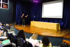 A palestra do professor Sidinei Cruz Sobrinho (Foto: Rakenny Barbosa/Comunicação Social)