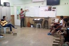 Alunos do projeto de extensão em aula
