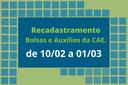 Recadastramento de bolsas e auxílios da Assistência Estudantil do IFF Campos Centro