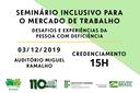 Seminário irá discutir a inserção de pessoas com deficiência no mercado de trabalho