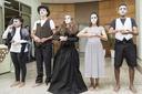 Alunos do Ensino Médio fizeram uma curta apresentação de Teatro (Crédito: Erisson Azevedo)