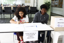 Seção eleitoral dos estudantes (Foto: Letícia Cunha).