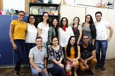 Estudantes e professores do Laboratório de Ensino e Aprendizagem de Matemática (Leamat) Foto: Letícia Cunha