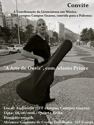 Convite - palestra com Adamo Prince