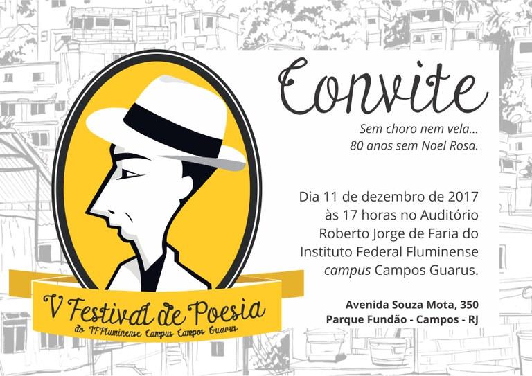 Convite V Festival de Poesias de Guarus