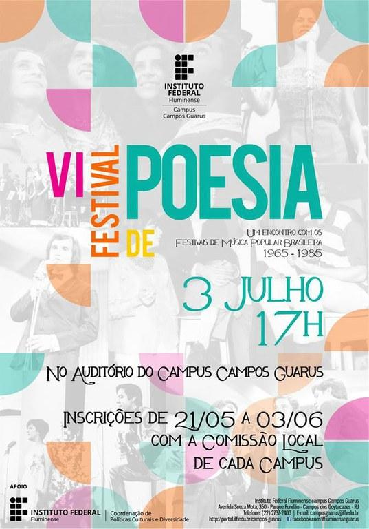 IFF Guarus promove o VI Festival de Poesias