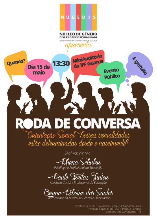 Cartaz Roda de Conversa - Nugedis