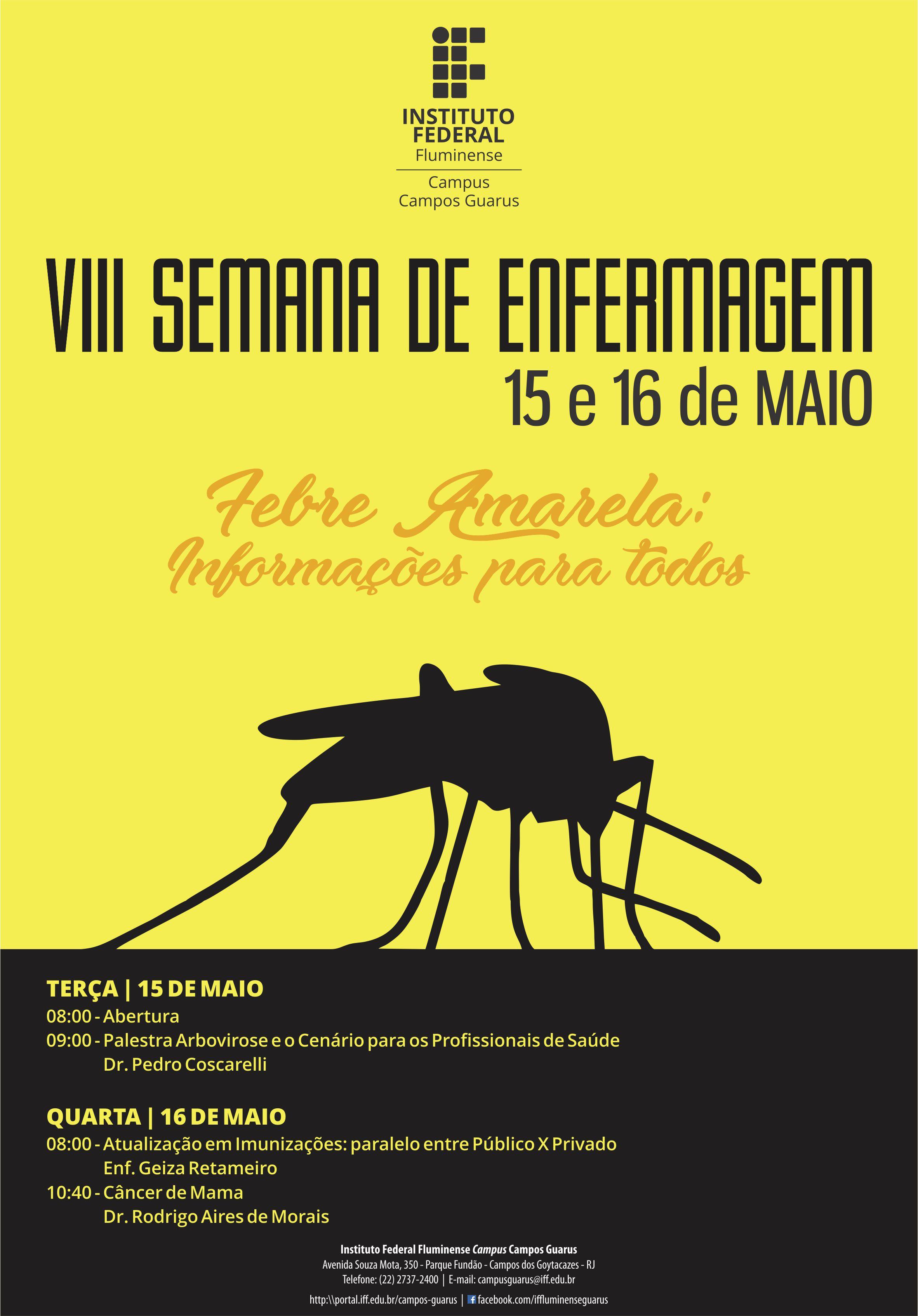 IFF Guarus promove a VIII Semana da Enfermagem