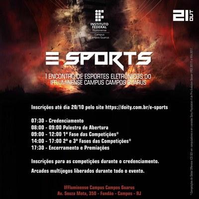 Programação I Encontro de Esportes Eletrônicos