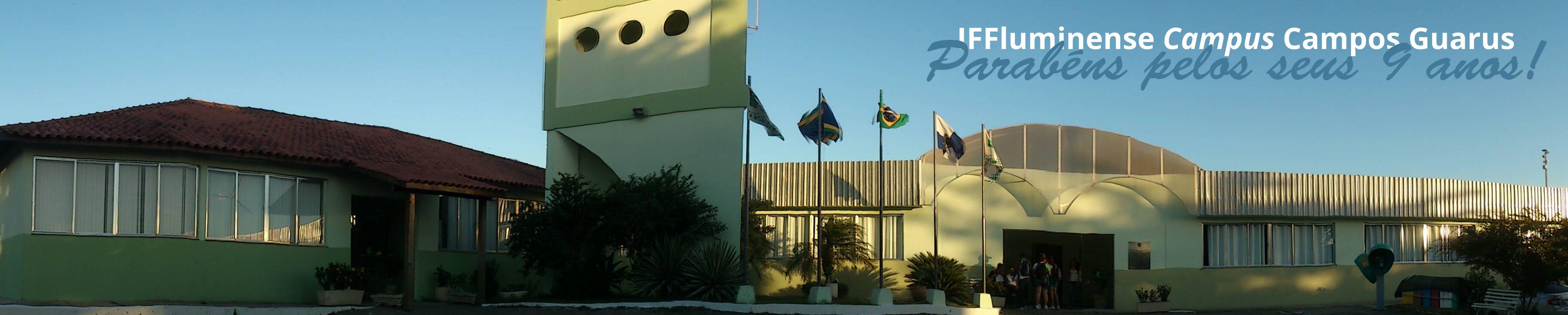 Banner aniversário do Campus Guarus - 9 anos
