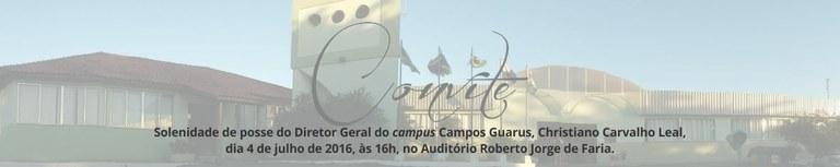 Banner - Posse do novo diretor geral