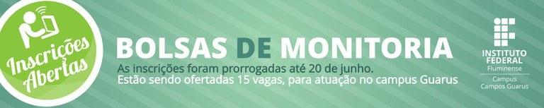 Banner Bolsa de Monitoria - campi