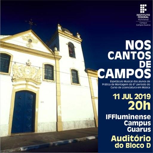 Licenciatura em Música do Campus Guarus promoverá espetáculo musical