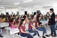 Reitor Jefferson Manhães disse que o novo espaço é um direito dos estudantes (Fotos: Danusa Picanço)