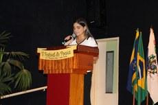 Professora Aída Maria durante o V Festival de Poesias de Guarus.