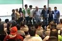 Estudantes durante cerimônia de premiação