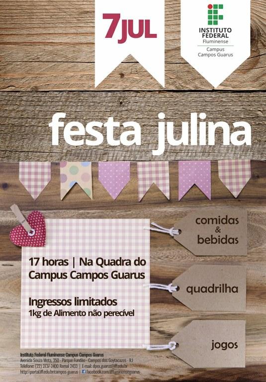 Cartaz da Festa Julina do Campus Guarus