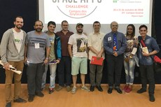 Participantes da competição NASA Space Apps no Campus Guarus