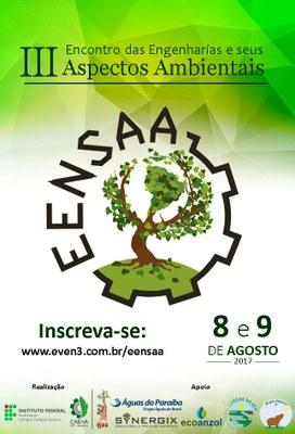 Cartaz do III Encontro das Engenharias e Seus Aspectos Ambientais que será realizado em agosto no Campus Guarus.