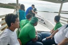 Equipe do Projeto Capivara acompanha gravação no Rio Paraíba do Sul
