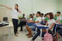 Aula para alunos da primeira turma matriculada no campus Itaperuna, 2009
