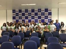 Os alunos fizeram uma visita guiada na fábrica
