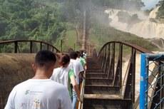 Os alunos visitaram a Usina Hidrelétrica de Tombos