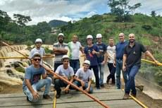 Os alunos visitaram a Central Hidrelétrica de Tombos, em Minas Gerais