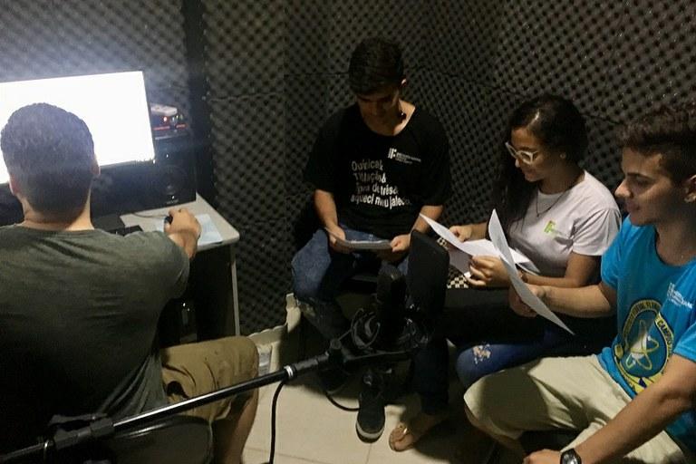 Produção de podcasts no IFF Itaperuna