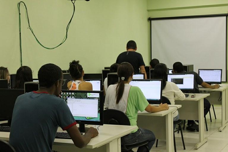 Sala de aula do curso de Sistemas de Informação