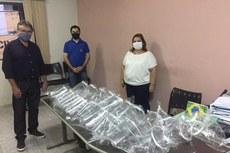 Entrega de protetores faciais para a Prefeitura de Natividade