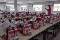 Os kits são entregues no campus e na casa dos estudantes
