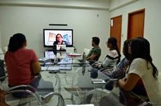 Equipe do projeto em reunião com assessoria técnica por videoconferência