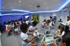 Oficina para crianças realizada durante a 1ª TecnoWeek: evento deste ano tem mais de 30 atrações