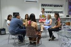 Reunião, na Tecnoteca, para formar um grupo de trabalho que discutirá metodologias diferenciadas de ensino