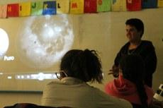 Aula de astronomia para crianças