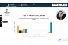 A aluna Camila Frizzo na apresentação online do Congresso