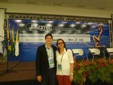 O pró-reitor Maycon Pires e a diretora geral do campus Itaperuna, Michelle Maria Freitas Neto