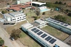 Os módulos foram instalados no telhado do Parque Acadêmico Industrial. Foto: Roberto Lanes Filho