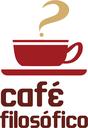 Assinatura visual do projeto Café Filosófico do campus Macaé.