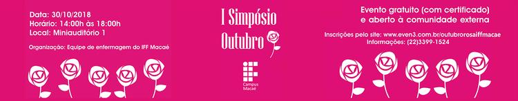 Banner simpósio outubro rosa
