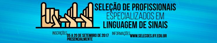 Banner seleção de profissionais técnicos especializados em linguagem de sinais