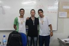 Alunos do campus Macaé medalhistas da Olimpíada Brasileira de Astronomia e Astronáutica.