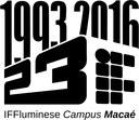 Marca comemorativa dos 23 anos do Campus Macaé