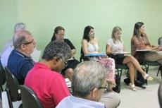 Pró-reitores e diretores em reunião no Campus Macaé. (Divulgação)